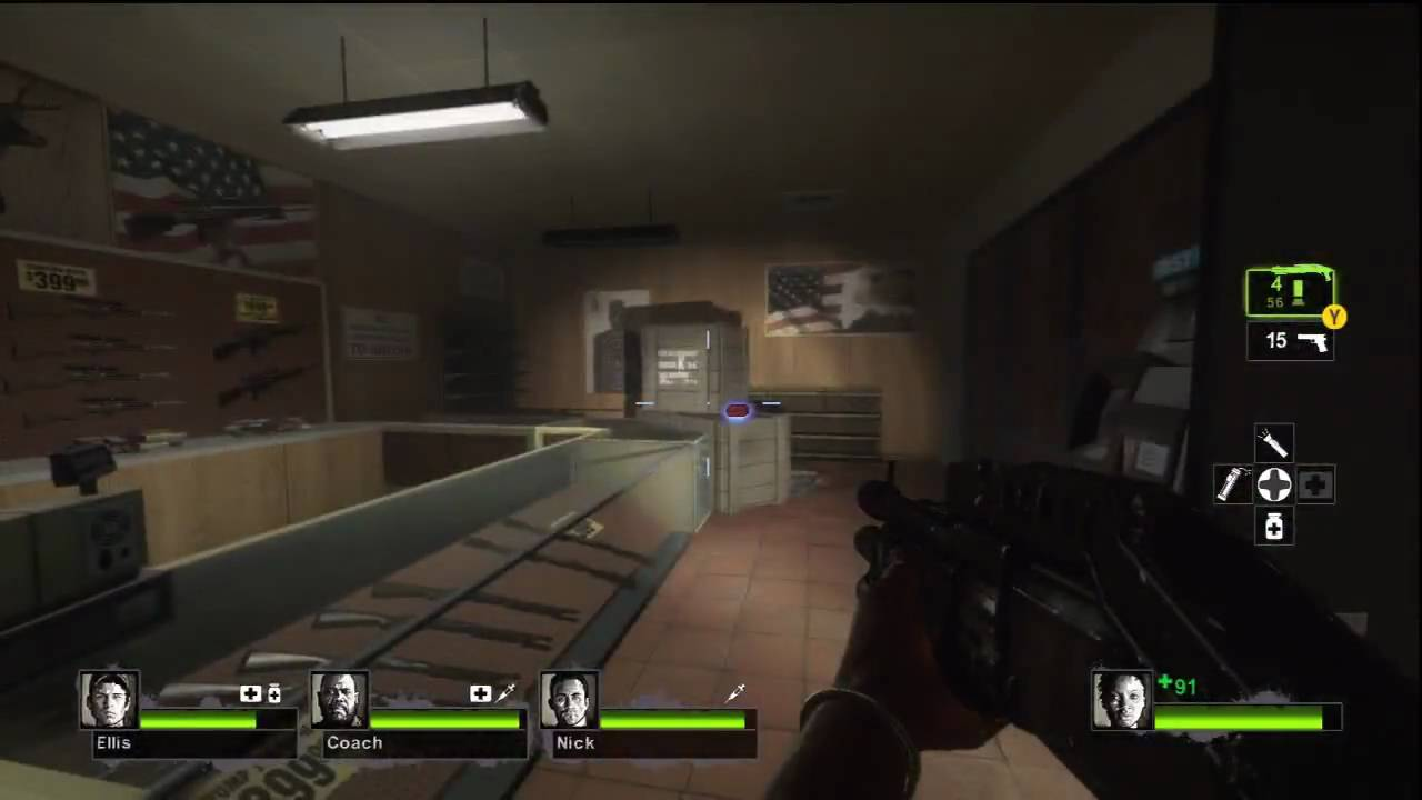 Left 4 Dead 2 Gameplay - 3 - Weapons Shop and Store