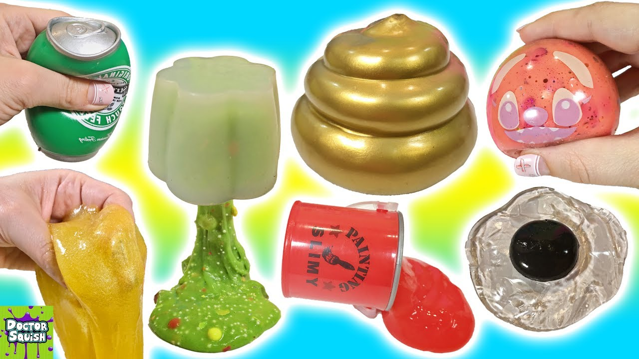 Squishy Maker Gudang Slime : Cutting Open Golden Squishy ! Can I Make Slime From a Squishy!? Doctor Squish - YouTube