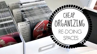 CHEAP ORGANIZING | Tips to re-organize any space