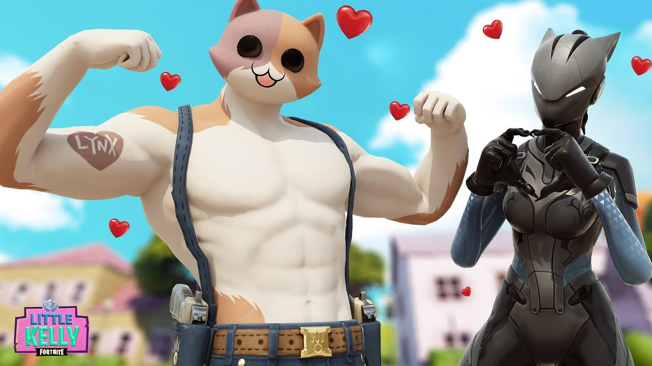 Lynx Falls In Love With The New Boy Meowscles Fortnite Short Film Youtube