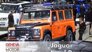 Land Rover Defender Sondermodelle, Evoque & Jaguar XE: Autosalon Genf 2015