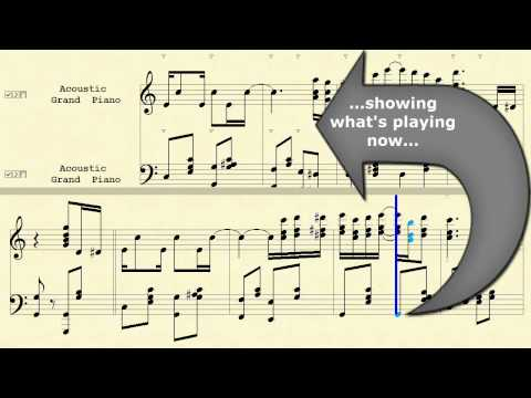 MidiIllustrator Music Notation Software - Advance Page Turn