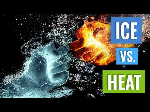 When to use Ice or Heat for treating a Sports Injury
