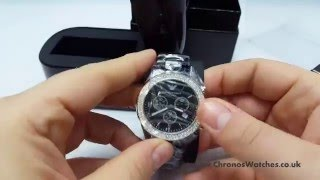 take a look at the emporio armani ar1455 watch chronos watches unboxing video