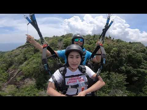 Punpunita the flight attendant flying Paragliding in Phuket!