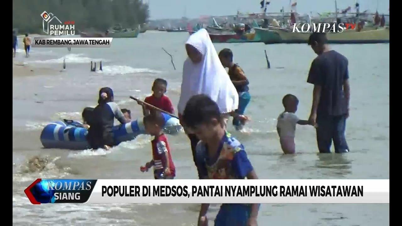 Populer Di Medsos Pantai Nyamplung Ramai Wisatawan