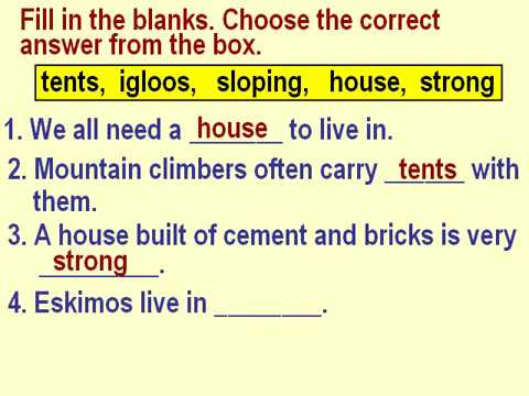 Class 2 EVS Different Types of Houses Questions and Answers for Kids