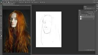 Стрим № 135 - Рисование портрета по фото