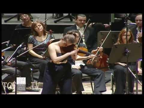Veronika Eberle Bis:  J.S.Bach Sonata No.1 in sol minore, BWV 1001 Adagio e intervista 11/01/2015