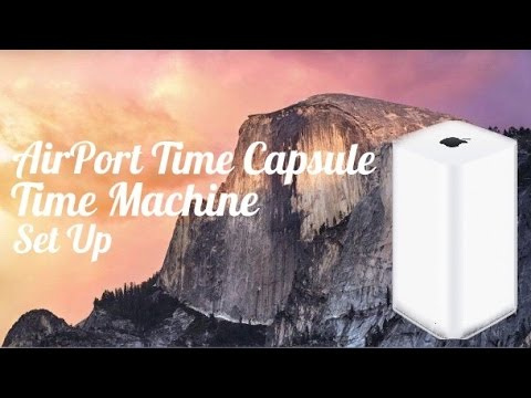 hook up apple time capsule