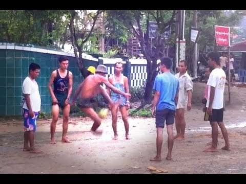 Burmese Chinlon, Myanmar traditionnal sport
