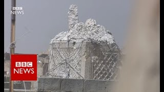 The destruction of Al-Nuri mosque