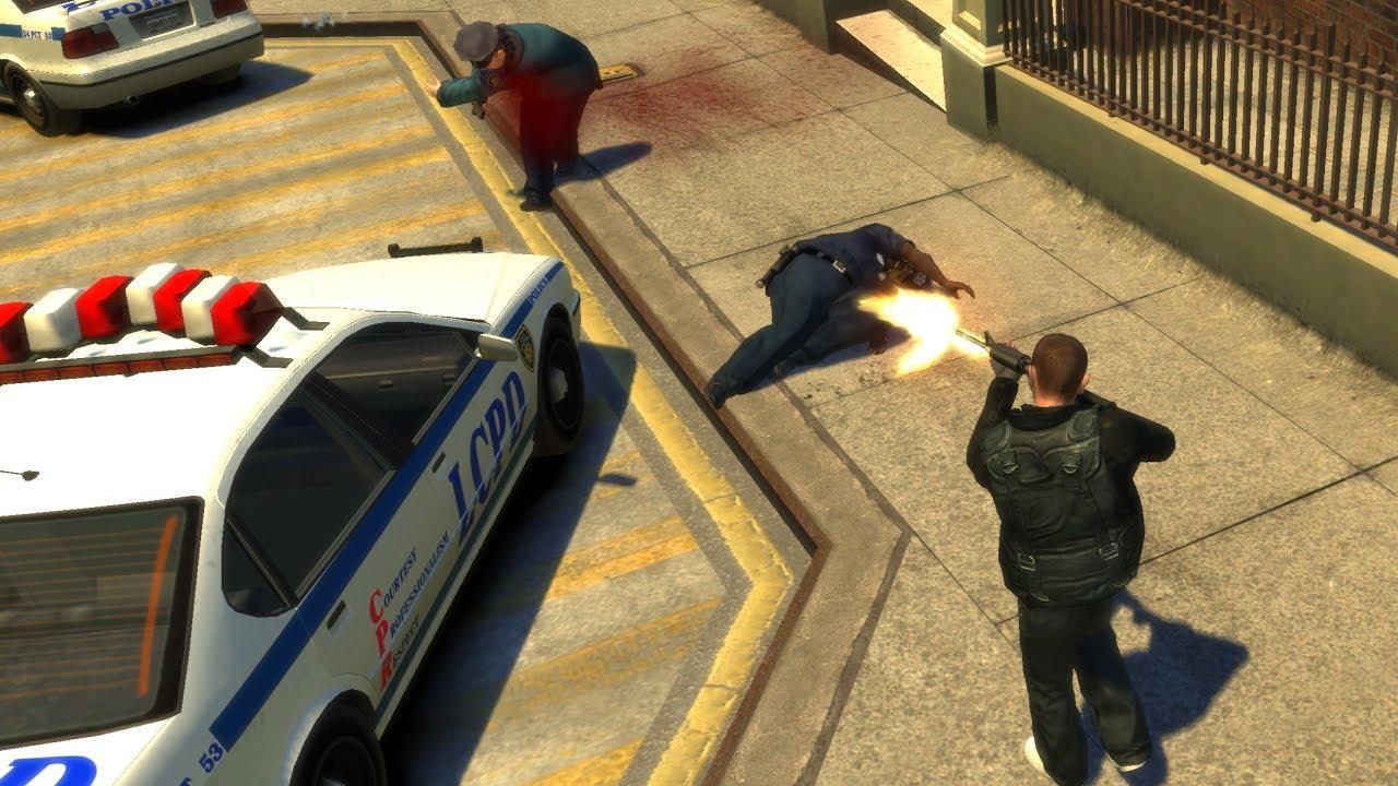 GTA 4 - 6 Star Escape + Police Station Shootout