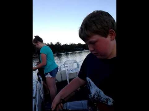 Fishing At Whale Rock On Mascoma Lake