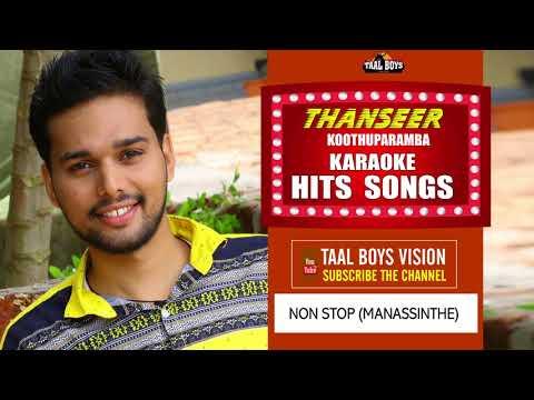NONSTOP Manassinte  karoke Karoke  Malayalam Mappila Album Song  Thanseer Koothuparamba