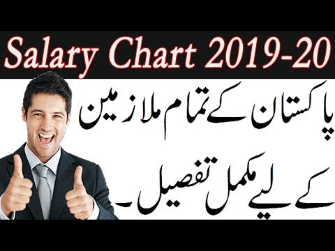 Fresh Appointed Employee Salary Chart 2019-20 for Govt. Employees of Pakistan