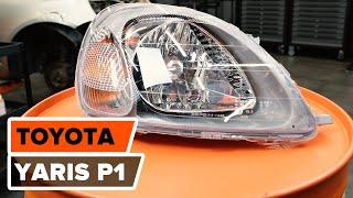 Ako vymeniť svetlomety na TOYOTA YARIS P1 [NÁVOD AUTODOC]