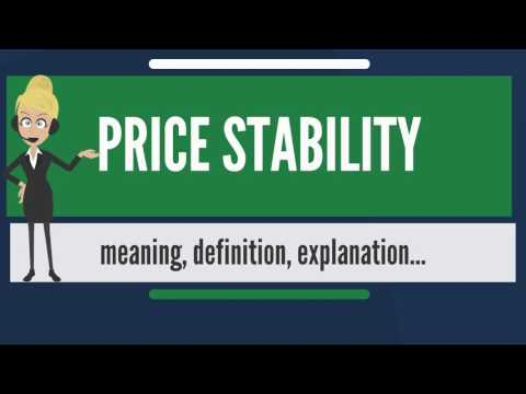 What is PRICE STABILITY? What does PRICE STABILITY mean? PRICE STABILITY meaning & explanation