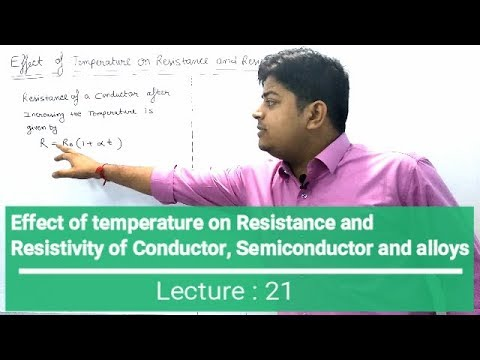 Effect Of Temperature On Resistance And Resistivity  (Current Electricity Lecture: 21)
