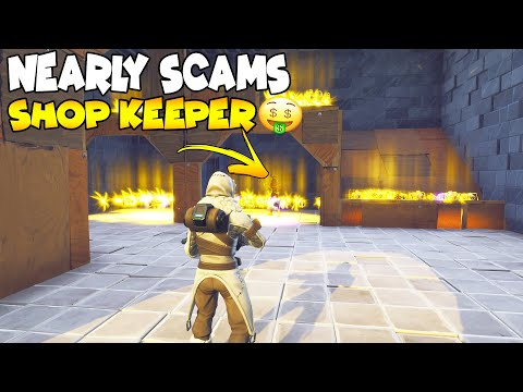 Rich Scammer Nearly Scams Shop Keeper! 😱 (Scammer Get Scammed) Fortnite Save The World