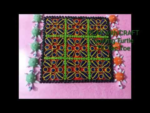 QUILLING TIC TAC TOE/DIY QUILLING GAMES/QUILLING TURTLE GAMES/HOW TO MAKE A QUILL PAPER TURTEL GAMES