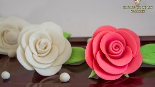 Como hacer rosas de fondant.  EL PARAISO DE LOS SABORES