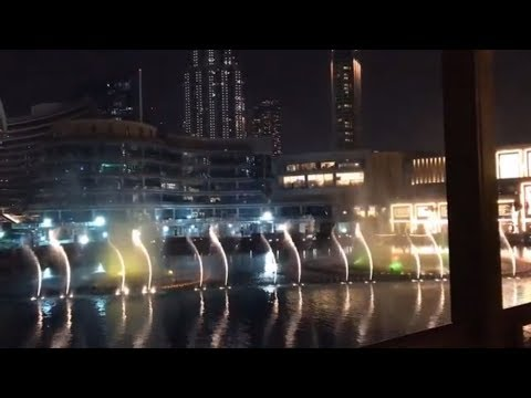 Fountain Dancing Show – best experienced at night Dubai Fountain in front of Burj Khalifa