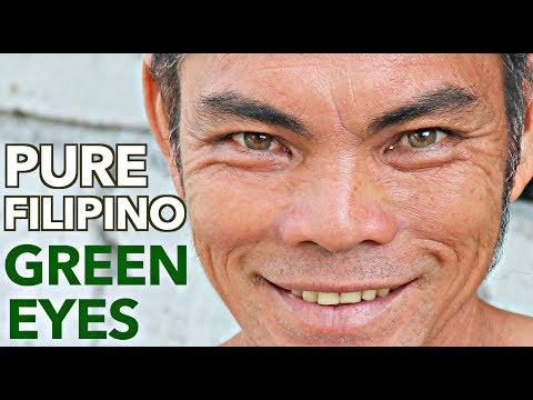 I found the ONLY NATIVE FILIPINO who has GREEN EYES!!🇵🇭 OMG..