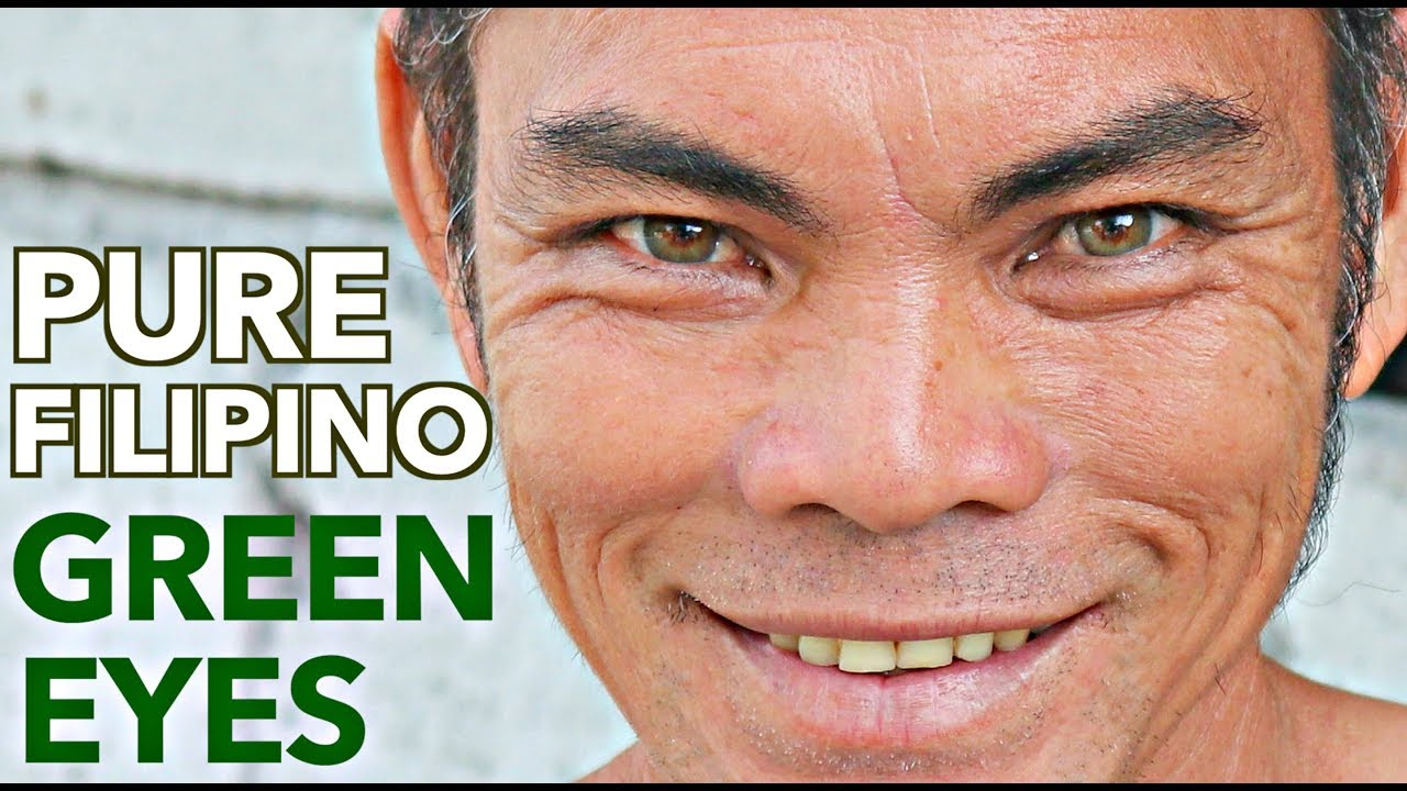 i found the only native filipino who has green eyes omg