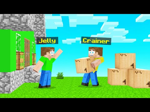MOVING Into JELLY'S NEW Minecraft TOWN!