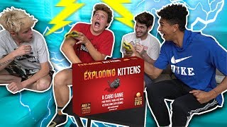 PLAYING INSANE CARD GAME w/ Shock Collars -  Exploding Kittens