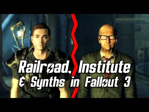Fallout 3&4 - Railroad, Institute & Synths in Fallout 3 and mentions of Dr. Zimmer in Fallout 4
