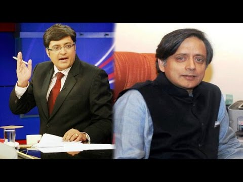 The Newshour Debate: Tharoor Emerges, Attacks Media - Full Debate (9th Jan 2015)