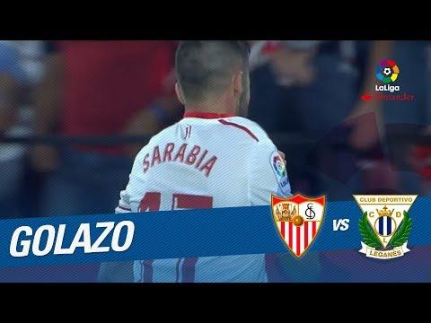 Golazo de Sarabia (2-1) Sevilla FC vs CD Leganés thumbnail
