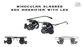 Очки увеличительные бинокулярные 20Х с подсветкой(Увеличительные очки. Работать в принципе можно. Но есть одно неудобство - фокусное слишком мало. Кмк, лучше..., 2014-02-01T17:00:04.000Z)