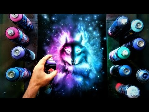 Wolf Spirit . Spray Paint Art. By Antonipaints