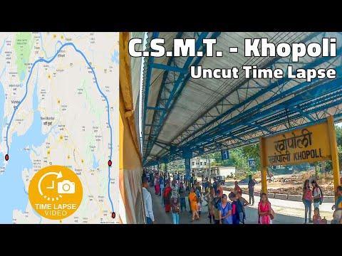 Mumbai Local Time-lapse : CSMT - Karjat - Khopoli Uncut Journey Timelapse   0.5 Sec Time lapse
