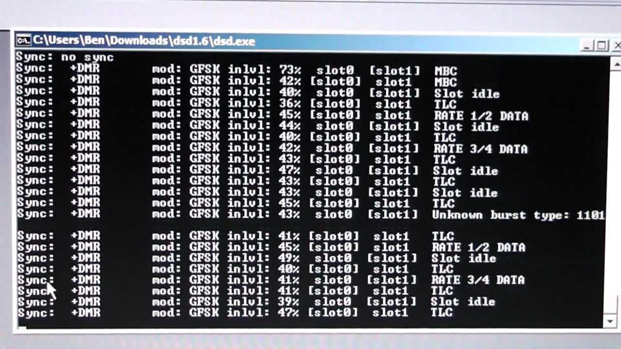 Decoding DMR with Digital Speech Decoder 1 6 beta