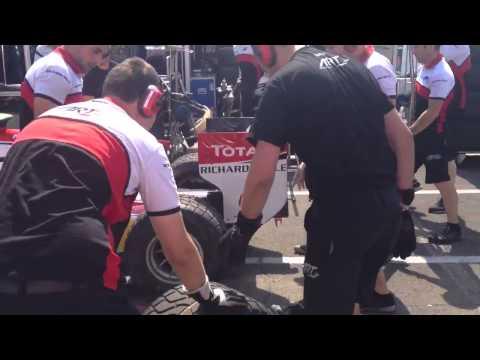 ART Grand Prix pit stop practice 2013