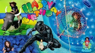 Baixar JJ's Black Panther4 th Birthday Party Vlog at Jumping World | JJ's Play World | Water Balloon Ride