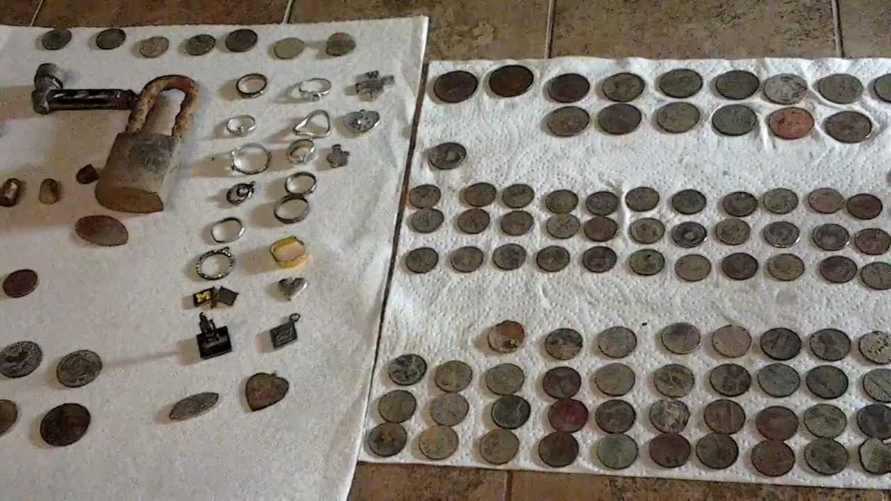Coin shooting with my Tesoro metal detector