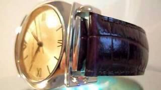 mens emporio armani ar0264 leather fashion watch