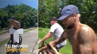 Neymar se recupera paseando en bicicleta | Telemundo Deportes