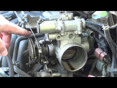How To: Fix a Sticking Accelerator Cable Throttle Body, replace TPS Sensor & Adjust Throttle Cable.