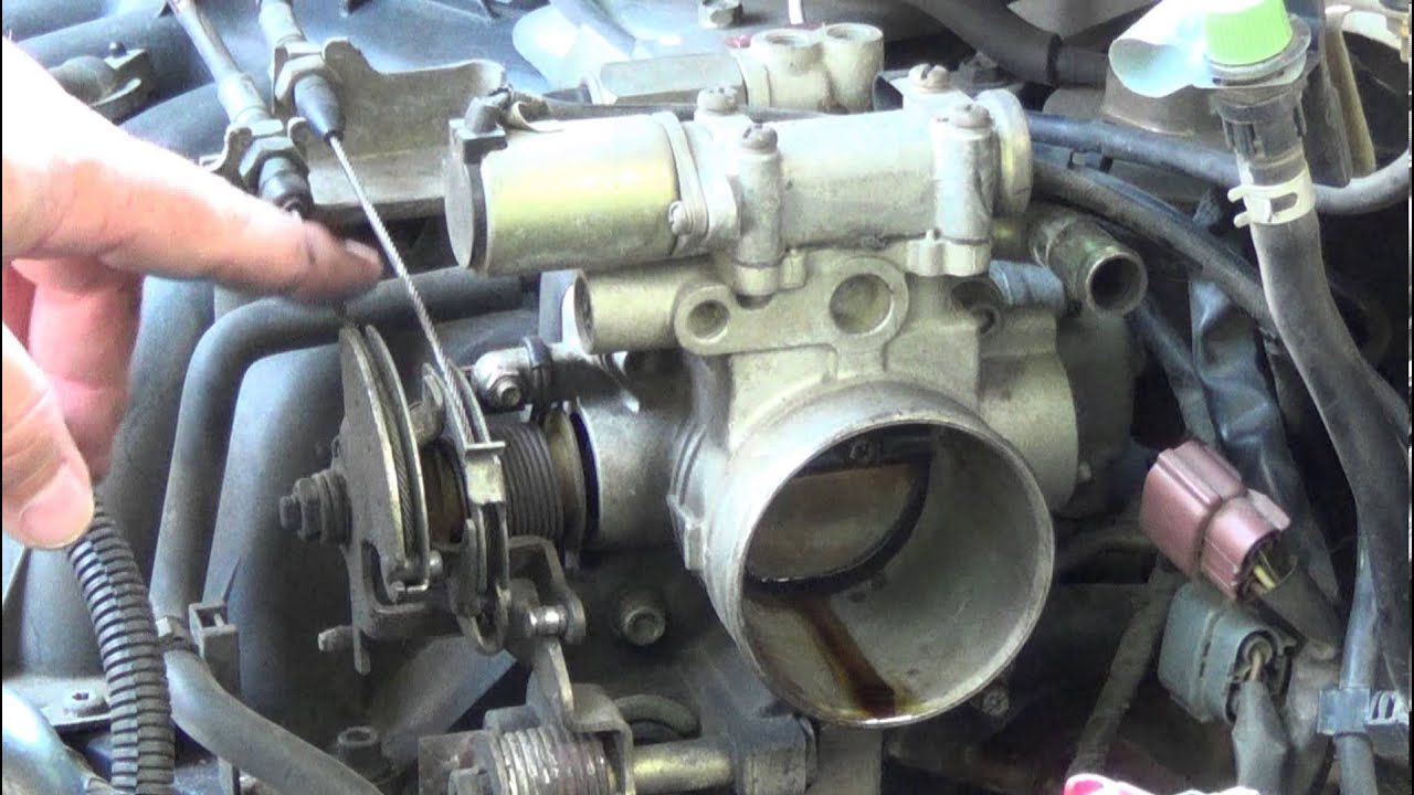 how to fix a sticking accelerator cable throttle body replace tps sensor adjust throttle cable  [ 1280 x 720 Pixel ]