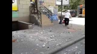 Обрушение фасада на Заневском