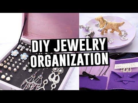 EASY DIY JEWELRY ORGANIZERS || Actually Alli