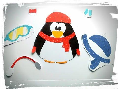 diy no l activit manuelle pingouin habiller youtube. Black Bedroom Furniture Sets. Home Design Ideas