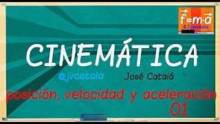 CINEMÁTICA: Vectores de Posición, Velocidad y Aceleración  Ejercicio 01 | #Josepedia