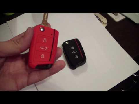 Красный чехол для ключа Skoda с Aliexpress